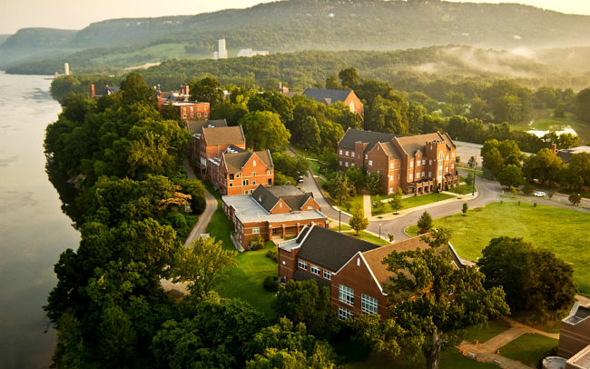 Aerial view of Baylor School, Chattanooga, TN